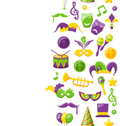 cute background for mardi gras and carnival vector image vector image