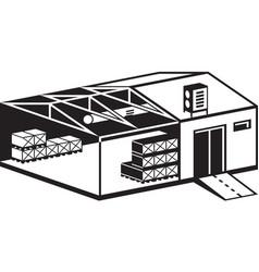 industrial warehouse building vector image