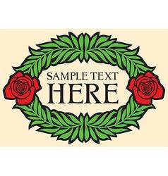 Rose wreath design vector image vector image