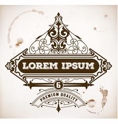 Vintage label premium vector