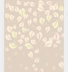 background leaves vector image