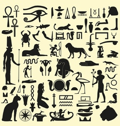 Egyptian symbols and signs set 1 vector