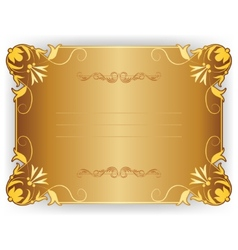 frame card with lace ornament vector image