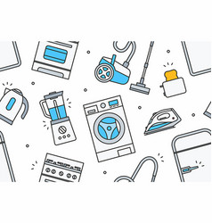 Home appliance pattern vector