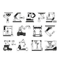 robotic hands for manufacturing industry vector image