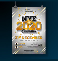 2020 new year party celebration poster template vector