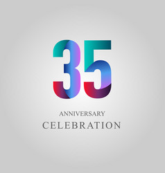 35 year anniversary celebration template design vector image