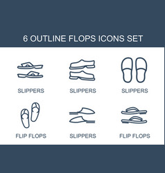 6 flops icons vector