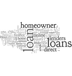 A guide to direct homeowner loans vector
