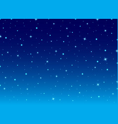 abstract night blue sky with stars cosmos vector image