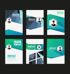 Abstract report cover vector