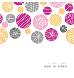 abstract textured bubbles horizontal frame vector image