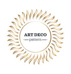 art deco border template vector image