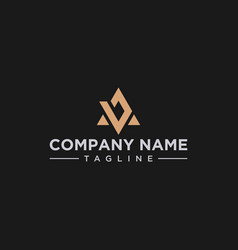 Ba ab triangle logo design inspiration vector