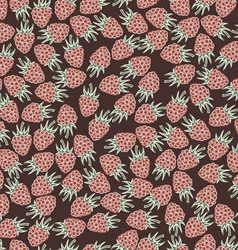 Beautiful seamless pattern with raspberries vector image vector image
