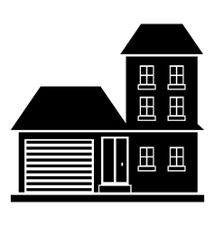Big house with garage icon simple style vector