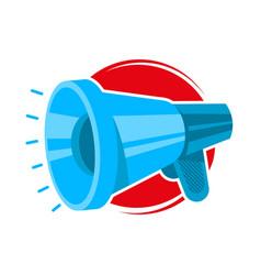 blue noise megaphone vector image