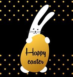 bunny happy easter vector image