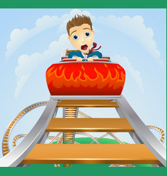 Business roller coaster ride concept vector