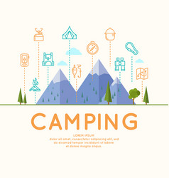 camping and poster vector image
