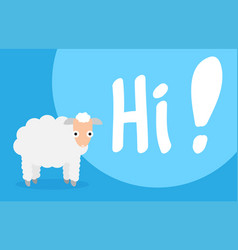 cartoon flat sheep image vector image