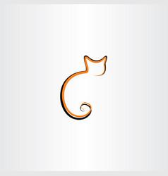 cat line icon logo symbol element vector image