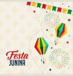 Celebration background for festa junina holiday vector