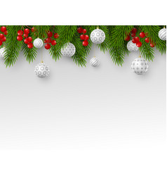 christmas and new year holiday design vector image