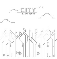 city line simple background vector image