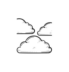 cloud hand drawn outline doodle icon vector image