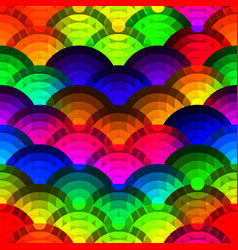 Colorful circles seamless background vector