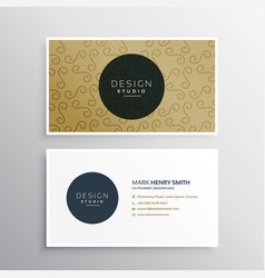 Company business card template presentation vector
