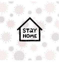 corona virus written in typography poster design vector image