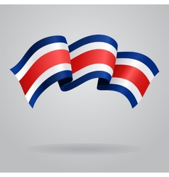 Costa Rican waving Flag vector image