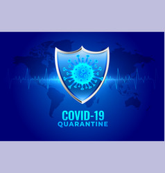 Covid19-19 coronavirus quarantine protection vector
