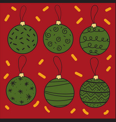 creative christmas balls isolated on background vector image