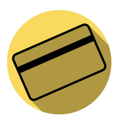 credit card symbol for download flat vector image