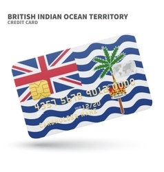 Credit card with British Indian Ocean Territory vector