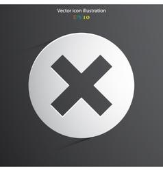 Cross web icon vector
