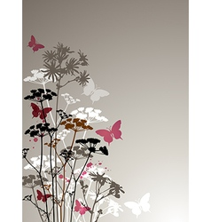 Decorative background with butterflies vector