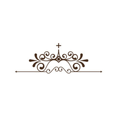 Decorative ornament icon vector