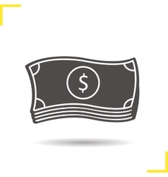 Dollars icon vector image