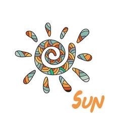 Doodle sun vector