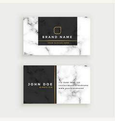 Elegant marble texture business card design vector