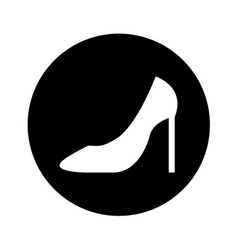 Female shoes heel icon vector