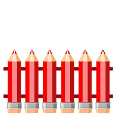 fence of red pencils vector image