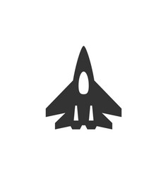 Fighter plane icon or military aviation symbol vector