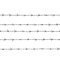 five pieces of barbed wire vector image