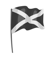flag of scotland icon in monochrome style isolated vector image
