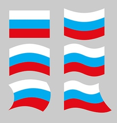 Flag Russia Set of flags of Russian Federation in vector image